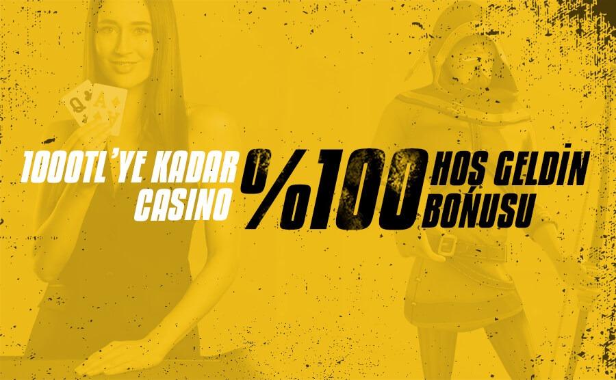 Kolaybet'ten %100 Casino Hoşgeldin Bonusu (Tüm Yatırım Metodlarına)