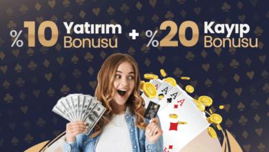 Photo of Casinoya Özel Çifte Bonus %10 Yatırım+%20 Kayıp