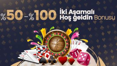 Photo of İki Aşamalı %50-%100 Hoşgeldin Bonusu (Tüm Yatırım Metodlarına)
